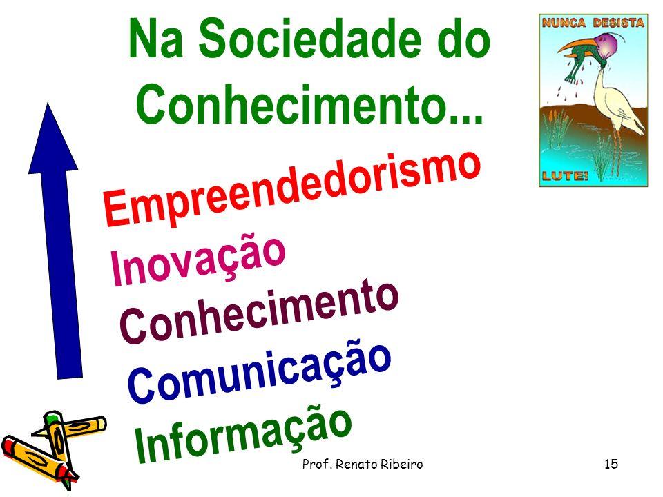 Na Sociedade do Conhecimento...