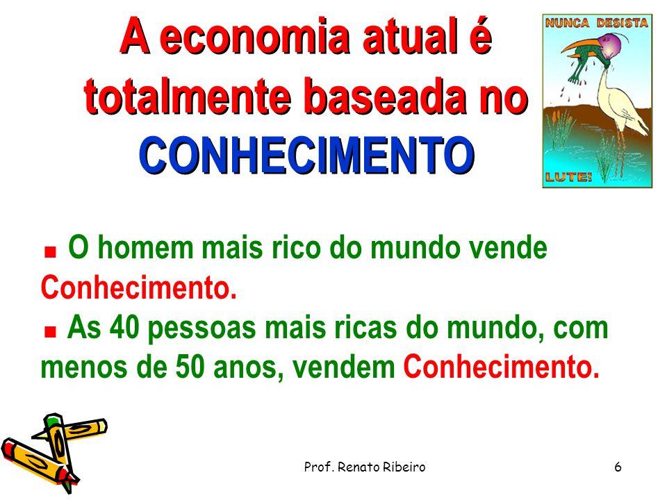A economia atual é totalmente baseada no CONHECIMENTO