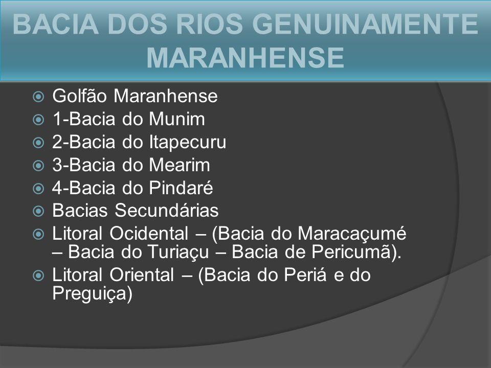 BACIA DOS RIOS GENUINAMENTE MARANHENSE