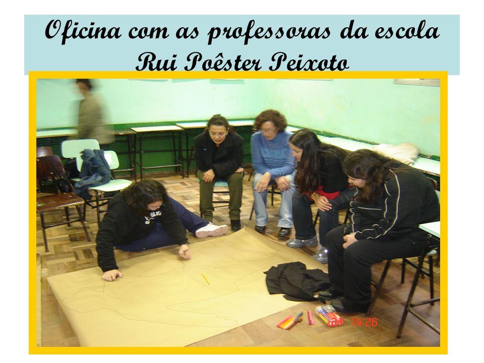 Oficina com as professoras da escola Rui Poêster Peixoto
