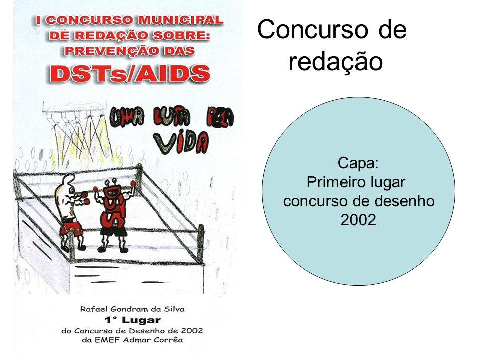 Concurso de redação Capa: Primeiro lugar concurso de desenho 2002