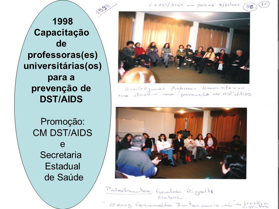 1998 Capacitação. de. professoras(es) universitárias(os) para a. prevenção de. DST/AIDS. Promoção:
