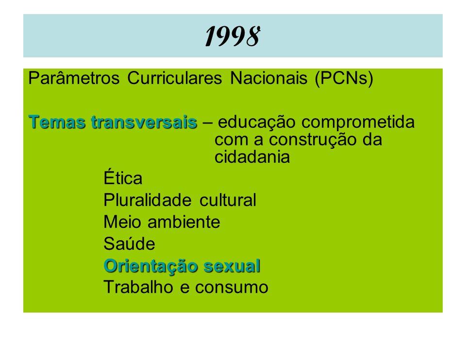1998 Parâmetros Curriculares Nacionais (PCNs)