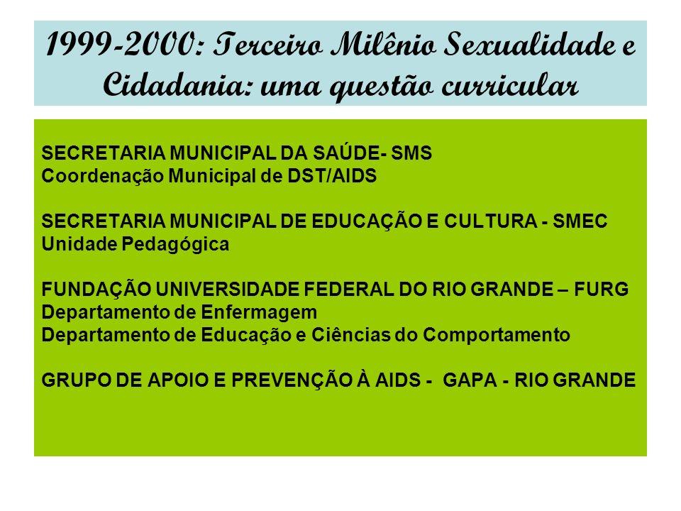 1999-2000: Terceiro Milênio Sexualidade e Cidadania: uma questão curricular
