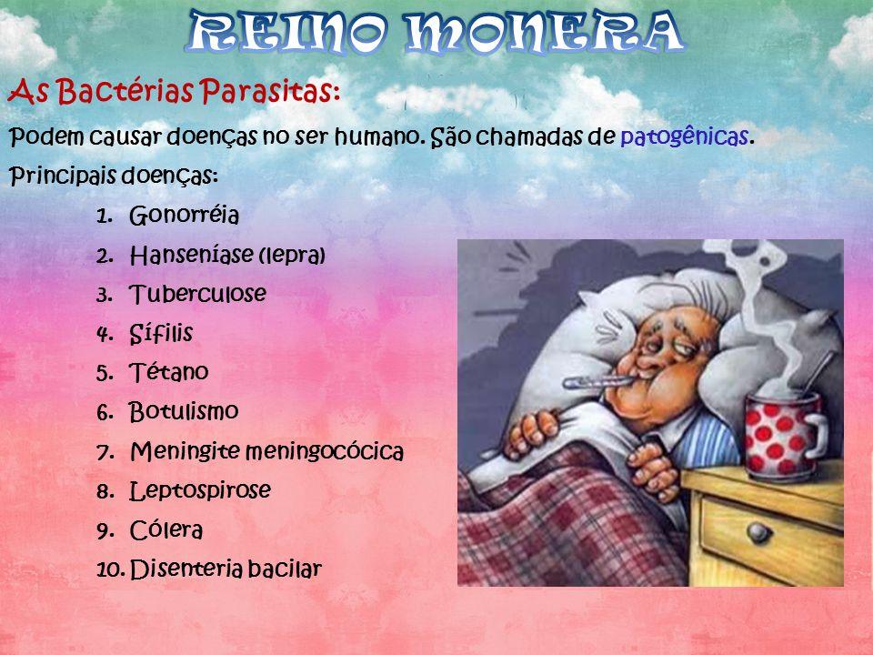 REINO MONERA As Bactérias Parasitas: