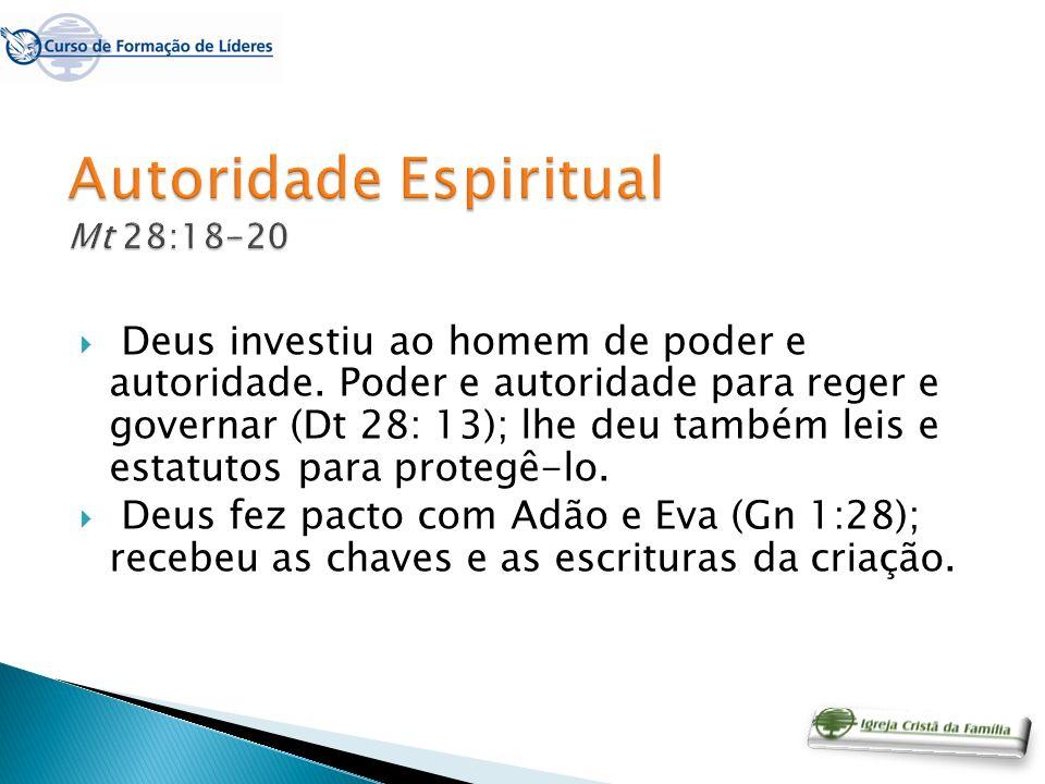 Autoridade Espiritual Mt 28:18-20