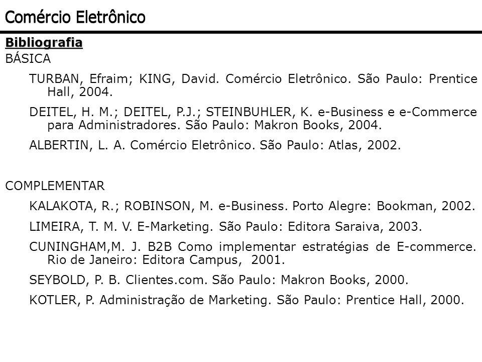 Comércio Eletrônico Bibliografia BÁSICA