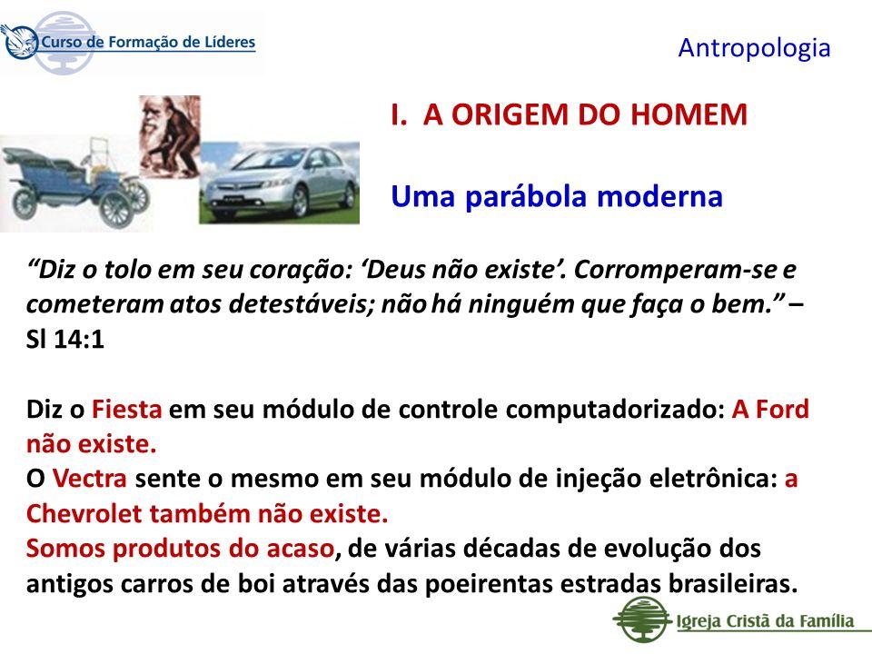 A ORIGEM DO HOMEM Uma parábola moderna Antropologia
