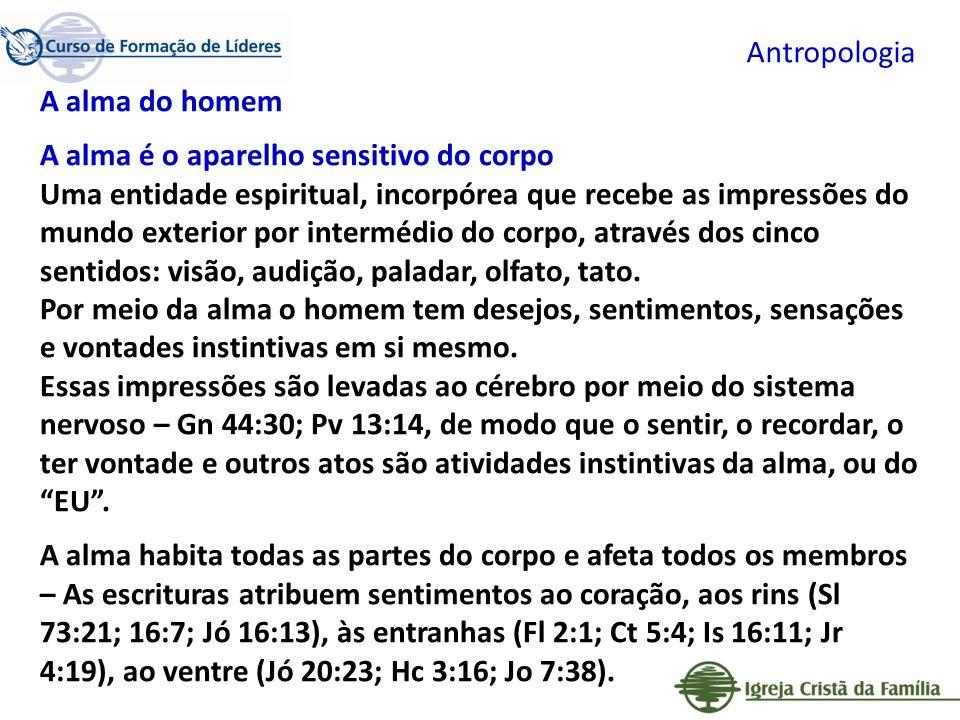 Antropologia A alma do homem.