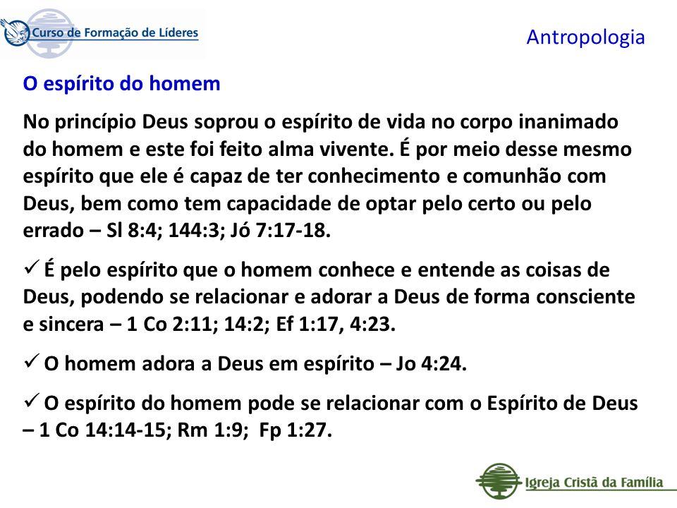 Antropologia O espírito do homem.