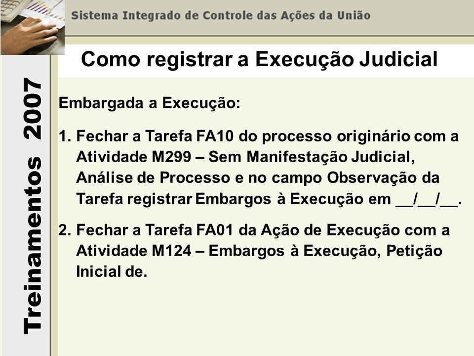 Como registrar a Execução Judicial