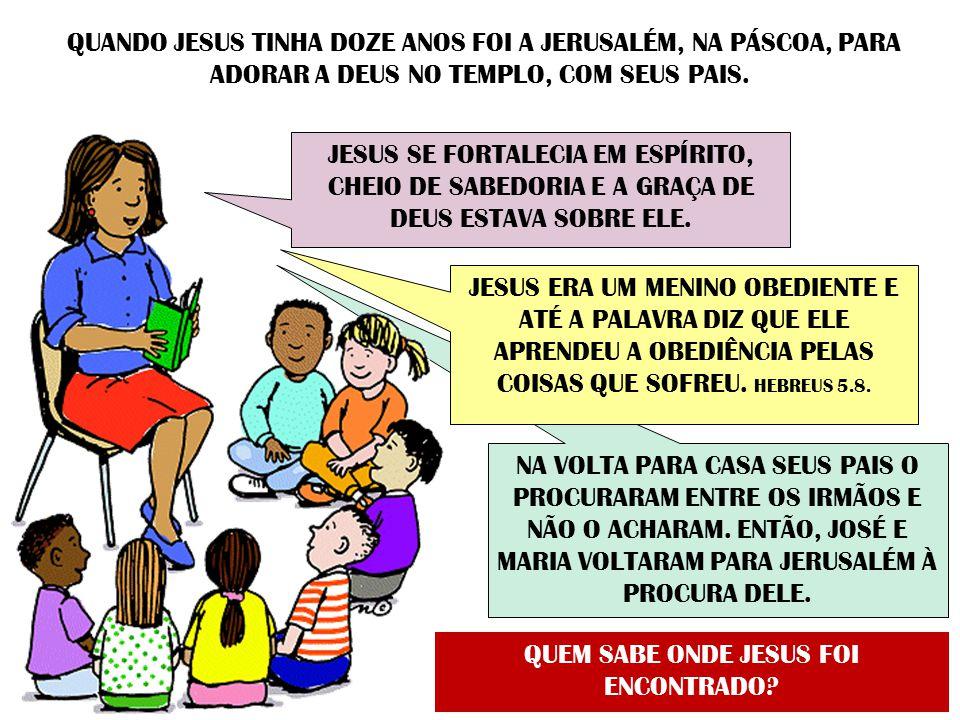 QUEM SABE ONDE JESUS FOI ENCONTRADO