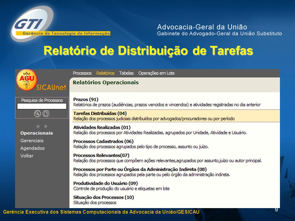 Relatório de Distribuição de Tarefas