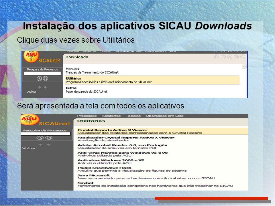 Instalação dos aplicativos SICAU Downloads