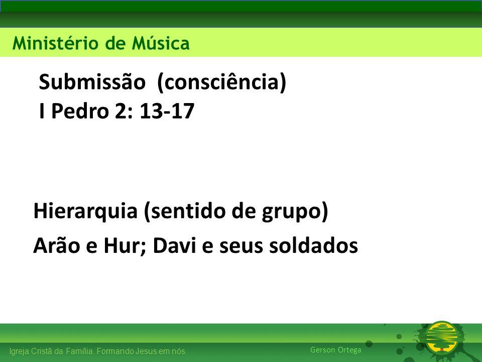 Submissão (consciência) I Pedro 2: 13-17