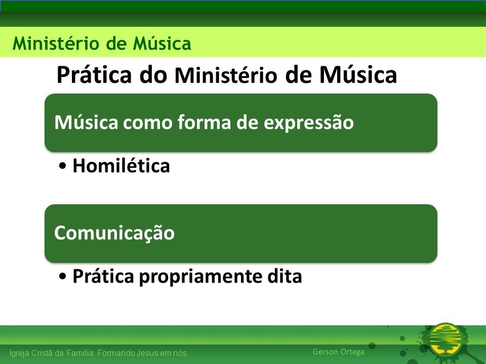 Prática do Ministério de Música