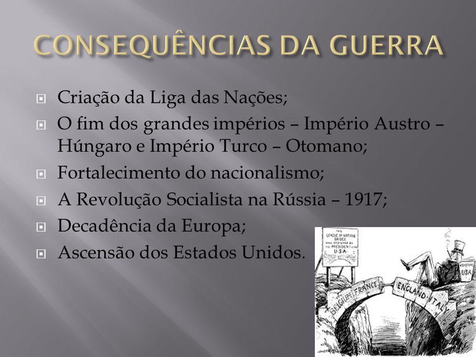 CONSEQUÊNCIAS DA GUERRA