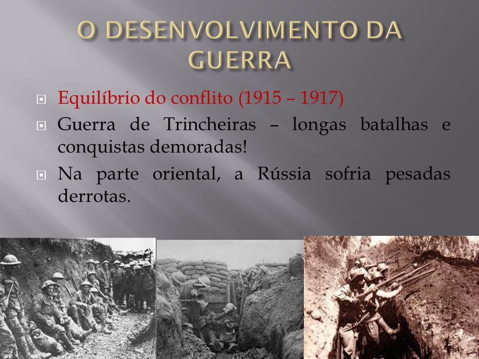 O DESENVOLVIMENTO DA GUERRA
