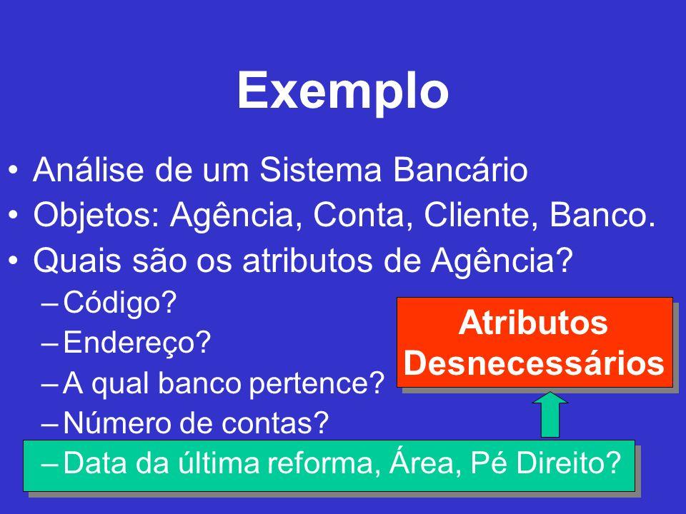 Exemplo Análise de um Sistema Bancário