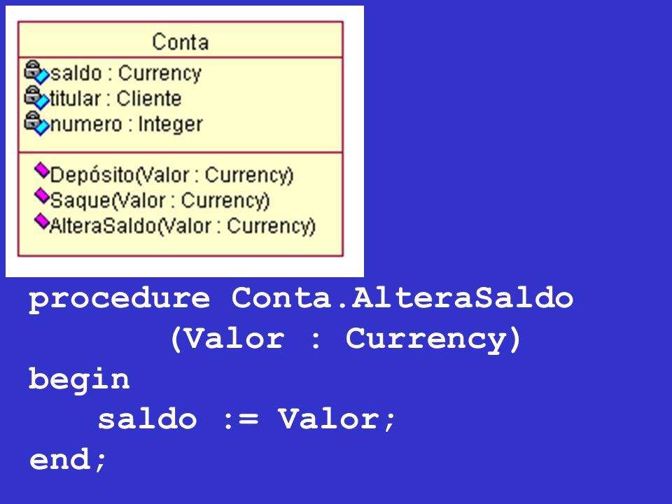 procedure Conta.AlteraSaldo