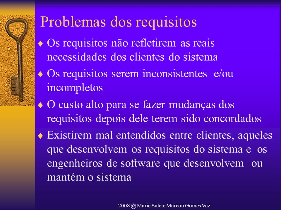 Problemas dos requisitos