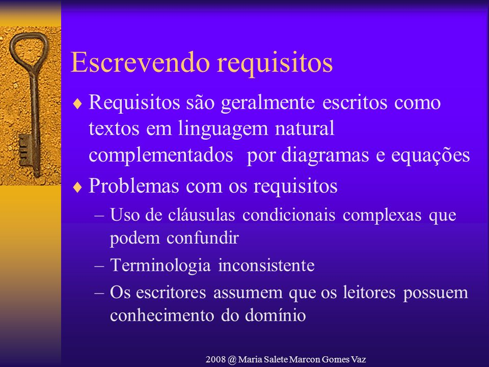 Escrevendo requisitos