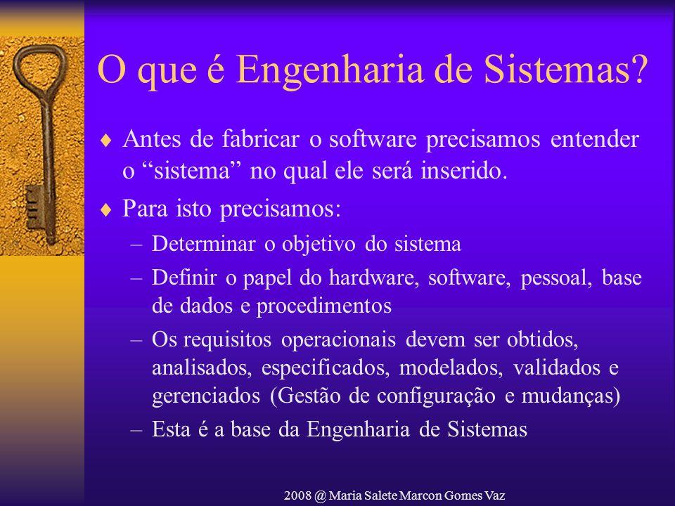 O que é Engenharia de Sistemas