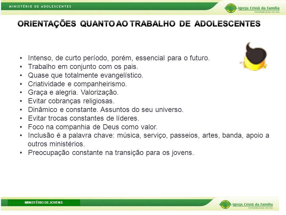 ORIENTAÇÕES QUANTO AO TRABALHO DE ADOLESCENTES