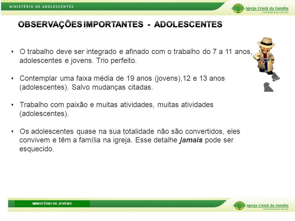 OBSERVAÇÕES IMPORTANTES - ADOLESCENTES