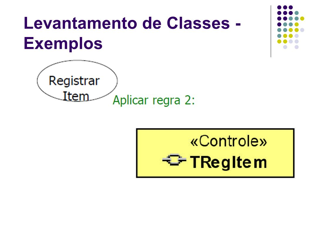Levantamento de Classes - Exemplos