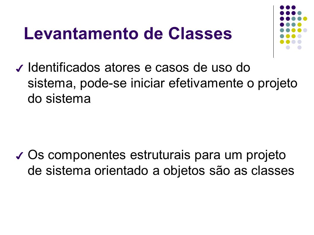 Levantamento de Classes