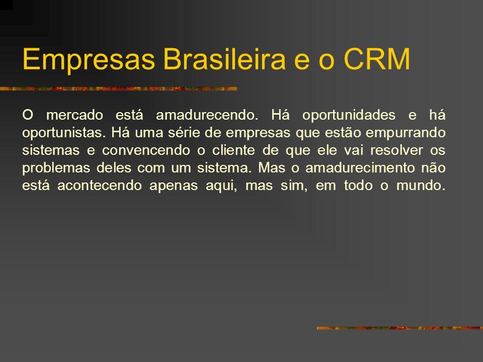 Empresas Brasileira e o CRM