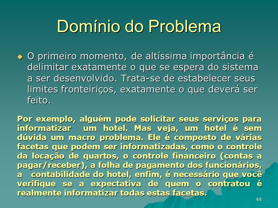 Domínio do Problema