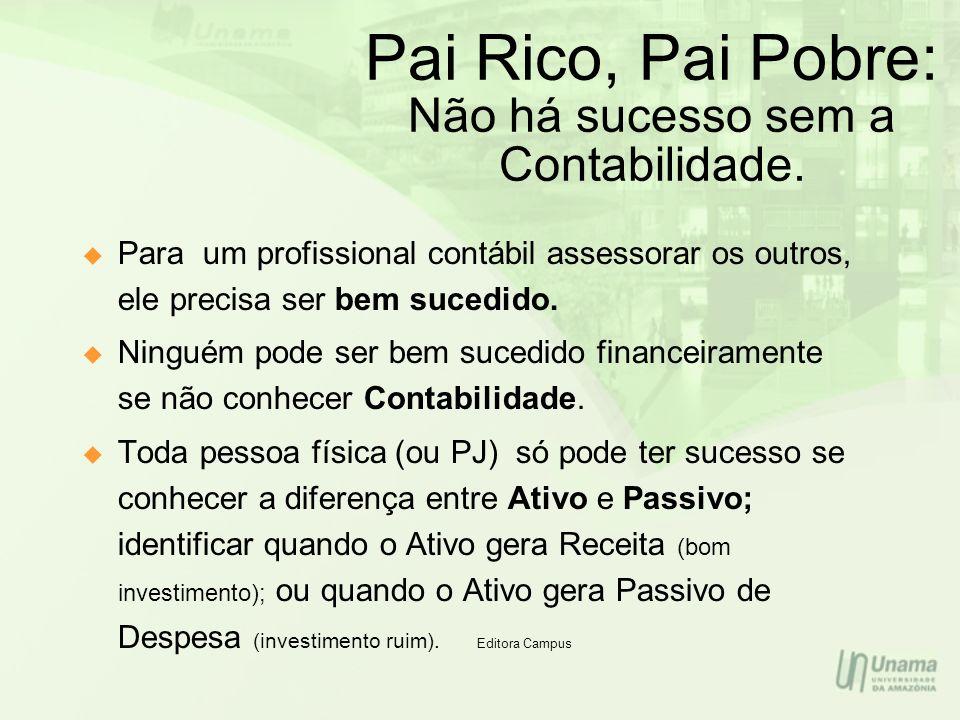 Pai Rico, Pai Pobre: Não há sucesso sem a Contabilidade.