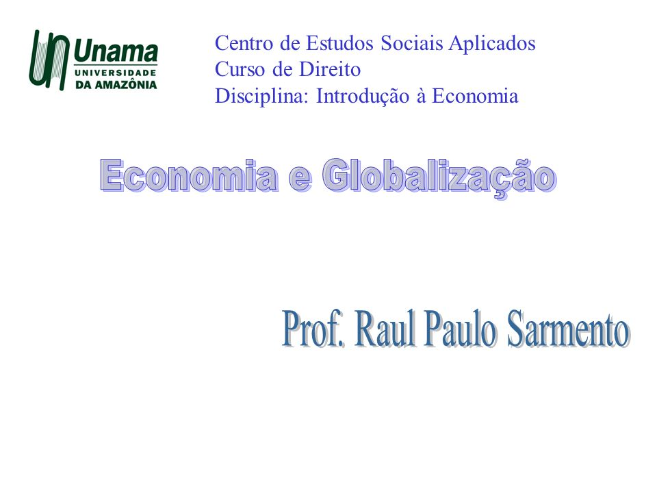 Economia e Globalização
