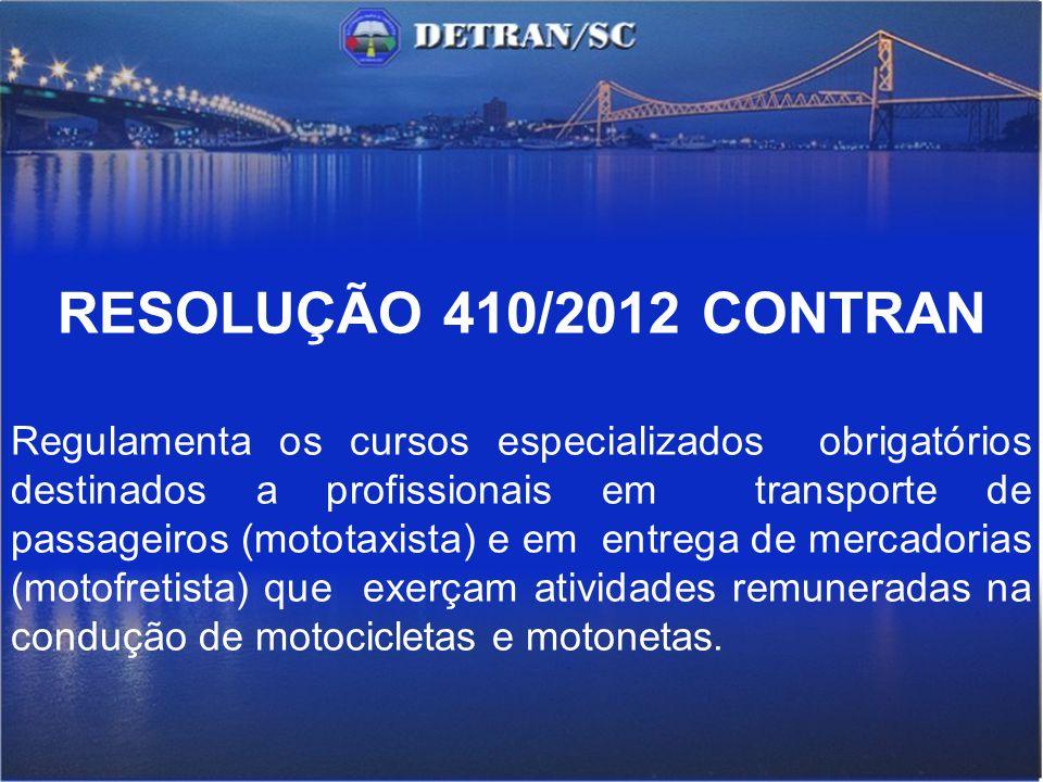 RESOLUÇÃO 410/2012 CONTRAN