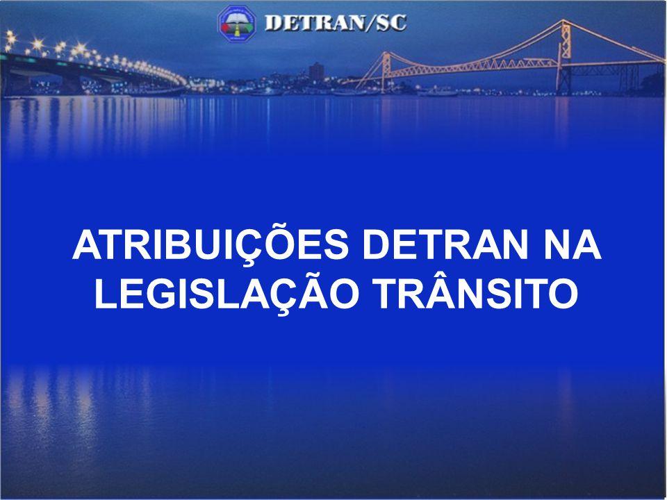 ATRIBUIÇÕES DETRAN NA LEGISLAÇÃO TRÂNSITO