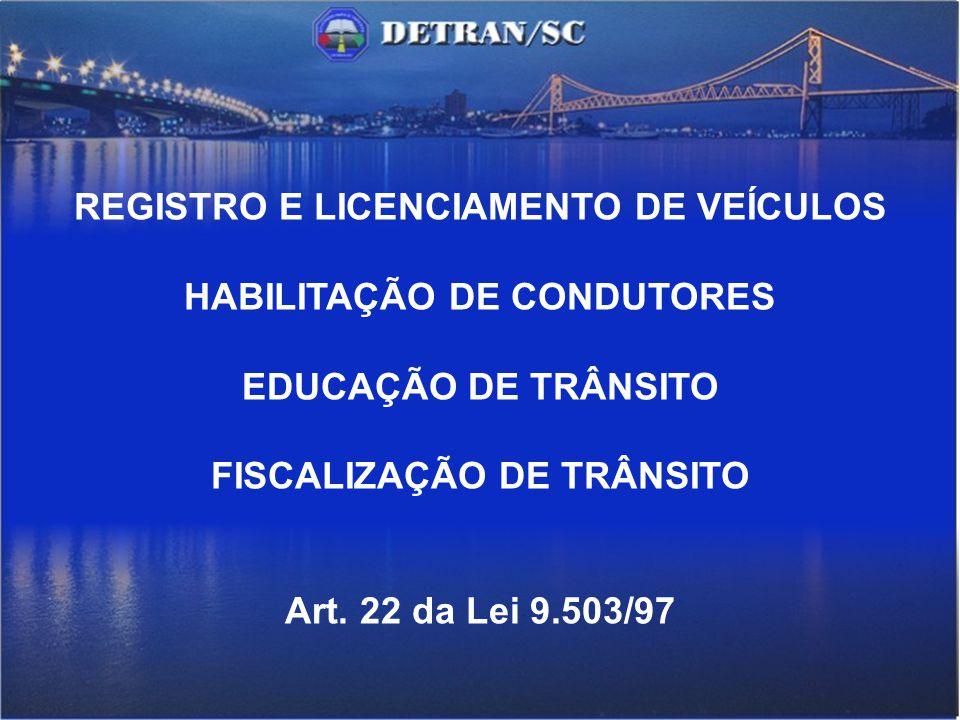 REGISTRO E LICENCIAMENTO DE VEÍCULOS HABILITAÇÃO DE CONDUTORES