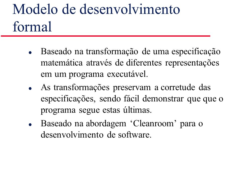 Modelo de desenvolvimento formal