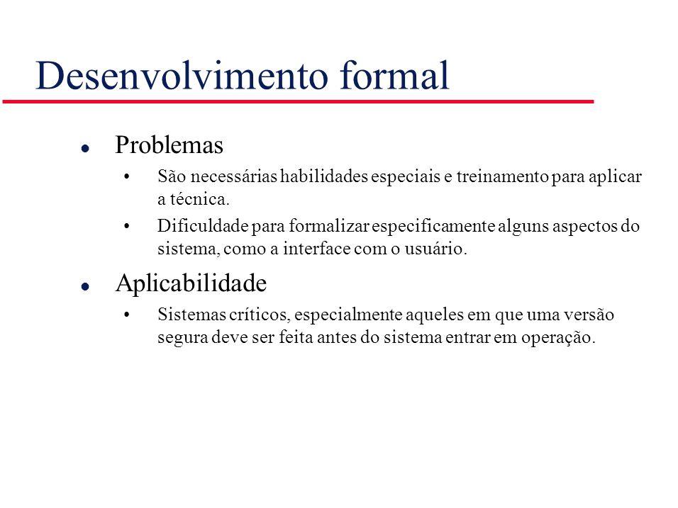 Desenvolvimento formal