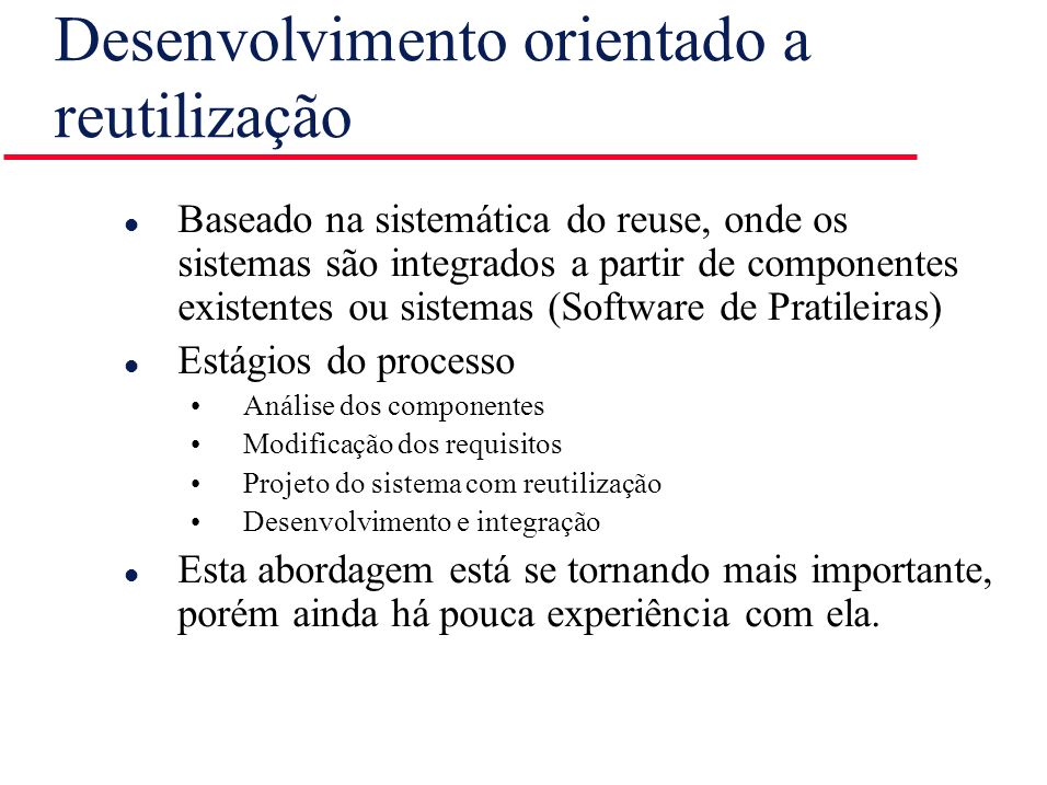 Desenvolvimento orientado a reutilização