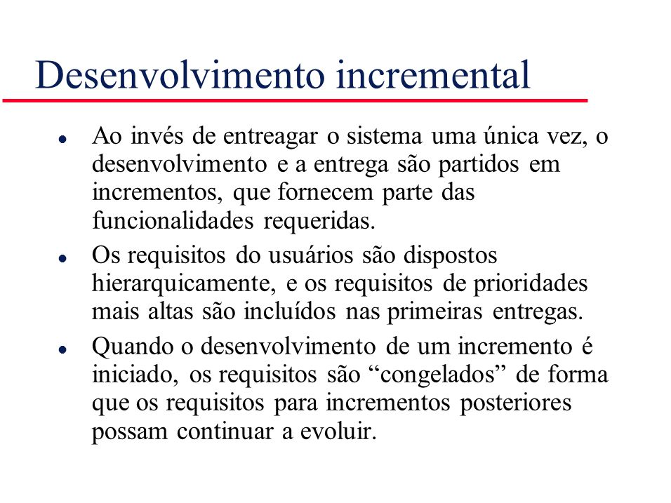 Desenvolvimento incremental