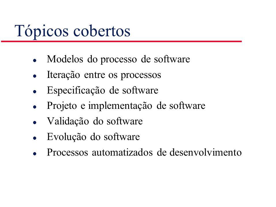 Tópicos cobertos Modelos do processo de software