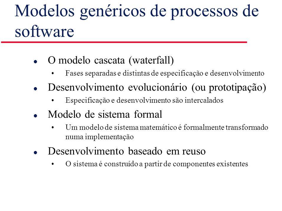 Modelos genéricos de processos de software