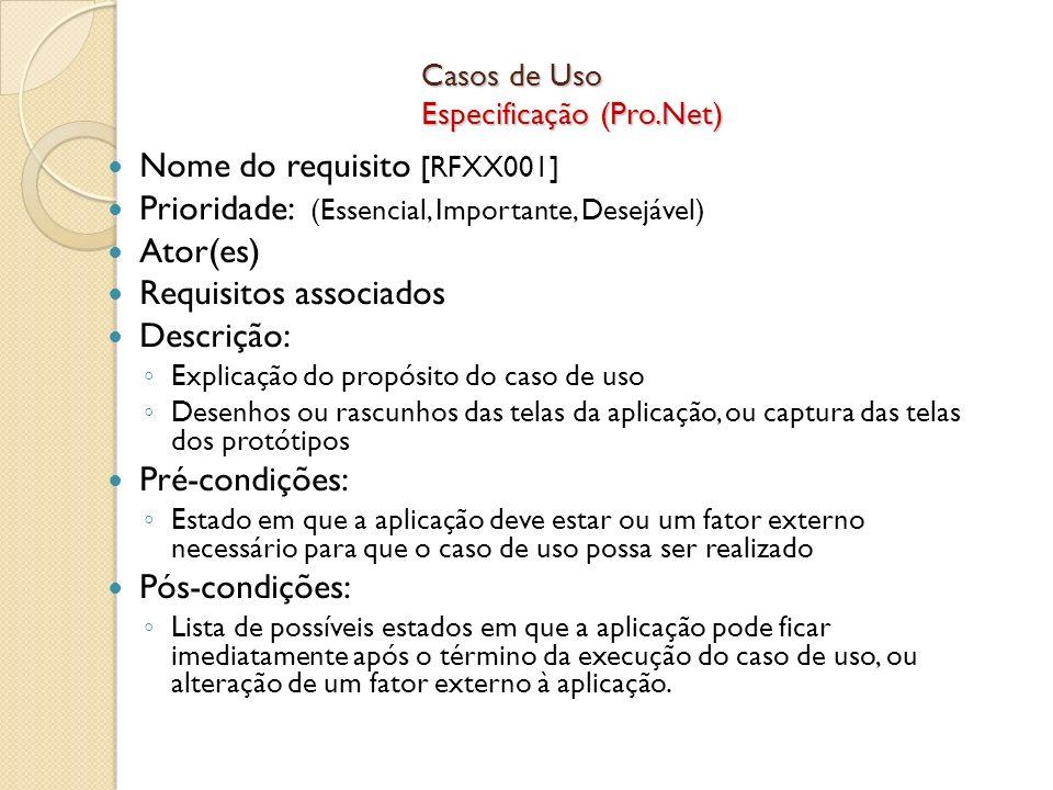 Casos de Uso Especificação (Pro.Net)