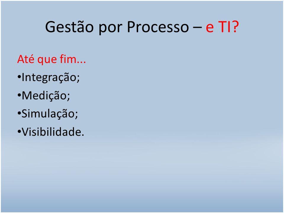 Gestão por Processo – e TI