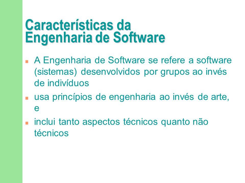 Características da Engenharia de Software