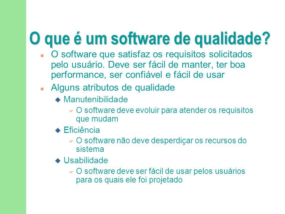 O que é um software de qualidade