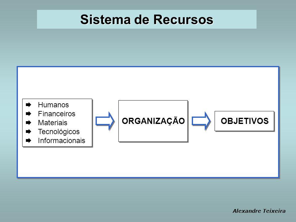 Sistema de Recursos ORGANIZAÇÃO OBJETIVOS Humanos Financeiros