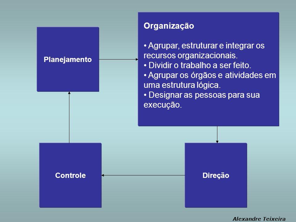 Agrupar, estruturar e integrar os recursos organizacionais.